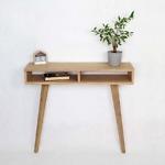 Nowoczesna Konsola Lea z dwiema półkami - designerskie meble