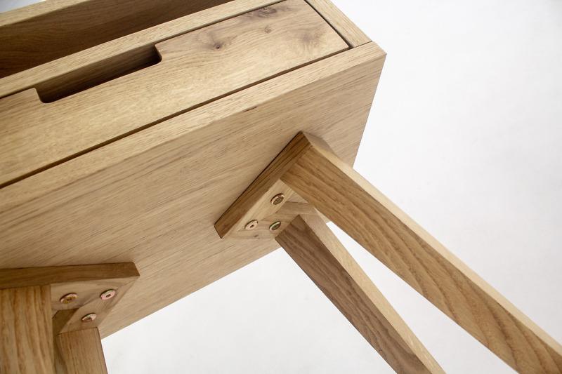 Szafka Skandynawska Nocna Lea z szufladą i półką - dębowy front