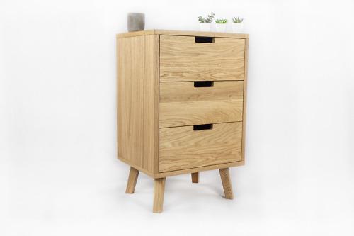 Dębowa Skandynawska Komoda Lea z szufladami, designerska, nowoczesna (Kopia)